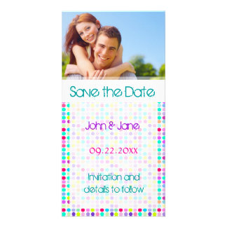 "Polka Dot/photo  ""Save the Date"" Custom Photo Card"