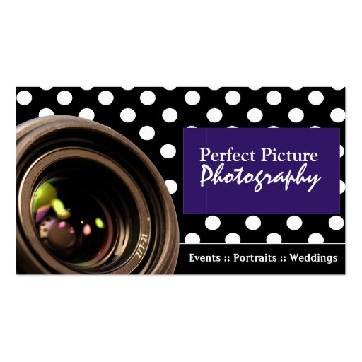 Polka dot photography business cards