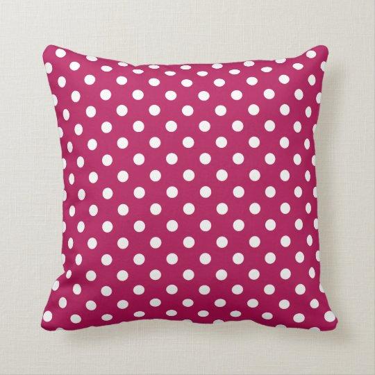 Polka Dot Pillow in Granita Red