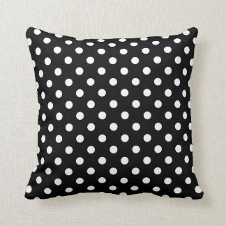 Polka Dot Pillows in Black and White