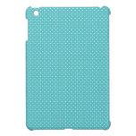 Polka dot pin dots girly chic blue pattern iPad mini cover