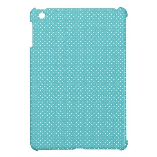 Polka dot pin dots girly chic blue pattern iPad mini covers