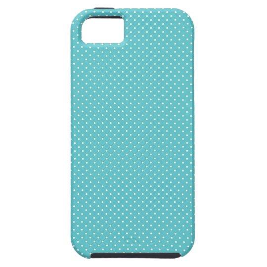 Polka dot pin dots girly chic blue pattern iPhone SE/5/5s case