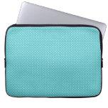 Polka dot pin dots girly chic blue pattern laptop computer sleeve
