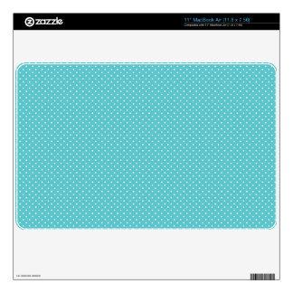 Polka dot pin dots girly chic blue pattern MacBook air decals