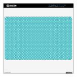 Polka dot pin dots girly chic blue pattern skins for MacBook air
