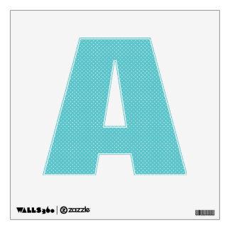 Polka dot pin dots girly chic blue pattern wall sticker