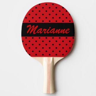 Polka Dot Ping Pong Paddle