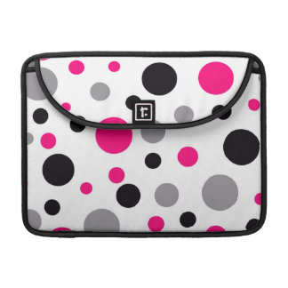 Polka Dot Pink Abstract Art Sleeves For MacBooks