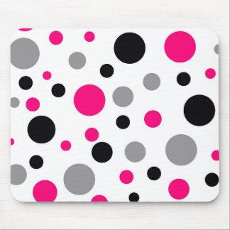 Polka Dot Pink Abstract Art Mouse Pad