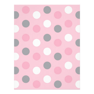 Polka Dot Pink Grey Baby Scrapbook Paper