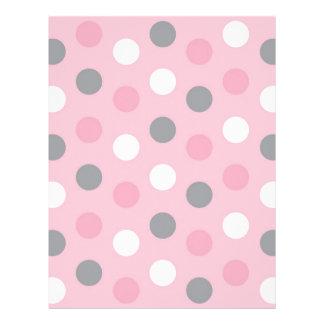 Polka Dot Pink Grey Baby Scrapbook Paper Letterhead