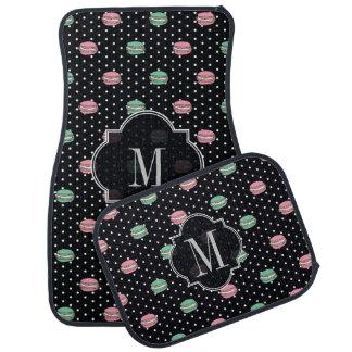 Polka dot pink macaron car mats
