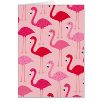 Polka Dot Pink Painted Flamingo Pattern