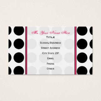 Polka Dot / Pink Teacher Fashion Business Card