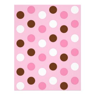 Polka Dot Pink White Baby Scrapbook Paper Letterhead Template