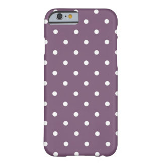 Polka Dot Plum & White Barely There iPhone 6 Case
