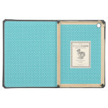 Polka dot polka dots girly chic blue pattern aqua iPad air case