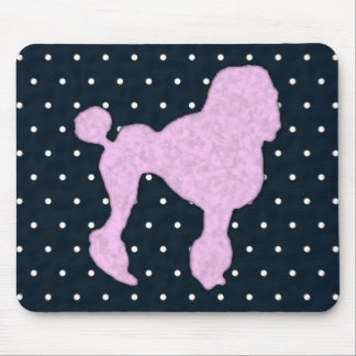 Polka Dot Poodle Mouse Pad