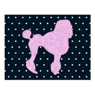 Polka Dot Poodle Postcard