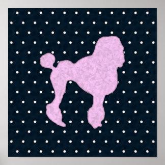 Polka Dot Poodle Poster