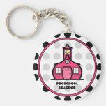 Polka Dot Preschool Teacher Keychain