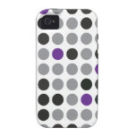 Polka Dot Purple and Gray iPhone 4 Case