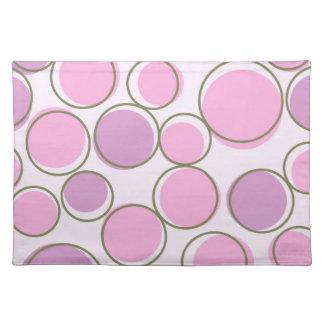 Polka Dot Purple Pink Placemats