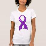 Polka Dot Purple Ribbon Lupus Tank Top
