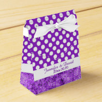Polka Dot Purple & White Tent Wedding Favor Box