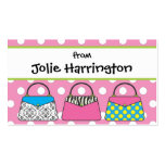 Polka Dot Purse Handbag Gift Card Calling Card Double-Sided Standard Business Cards (Pack Of 100)