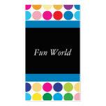 Polka Dot Rainbow Fun Business Card