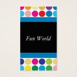 Rlvzcachepolkadotrainbowfunbusinesscard colourmoves