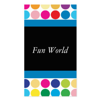 Polka Dot Rainbow Fun Double-Sided Standard Business Cards (Pack Of 100)