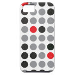 Polka Dot Red and Gray iPhone 5 Case