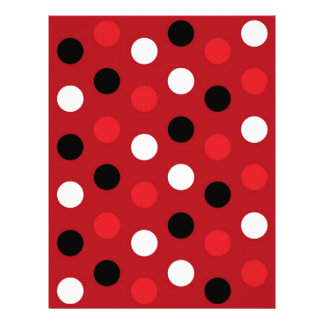 Polka Dot Red Black Baby Scrapbook Paper Personalized Letterhead