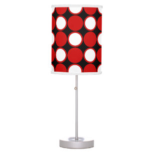 red black and white lamps polka dot red black white table lamp red white black table pendant lamps zazzle