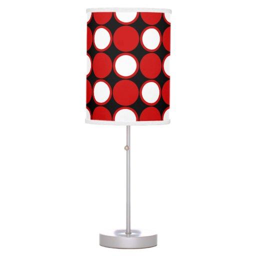 Salt Lamps Red Dot : Polka dot red black white table lamp Zazzle