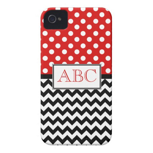 Polka Dot Red & Chevron iPhone 4/4S Case iPhone 4 Case