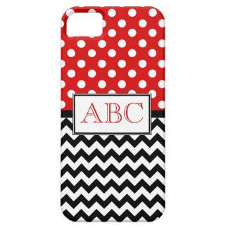 Polka Dot Red & Chevron iPhone 5 Case