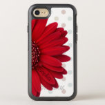 """Polka Dot Red Daisy Name OtterBox Symmetry iPhone 8/7 Case<br><div class=""""desc"""">This is designed with a red daisy,  polka dot background,  and a place for a name or text! Makes a great for anyone that loves pastel patterns,  floral designs,  or the look of a unique and modern OtterBox!</div>"""