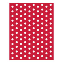 Polka Dot Red White Baby Scrapbook Paper
