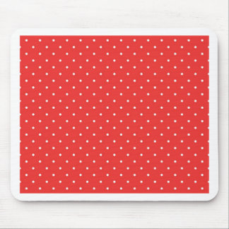 Polka dot red white background custom template mouse pad