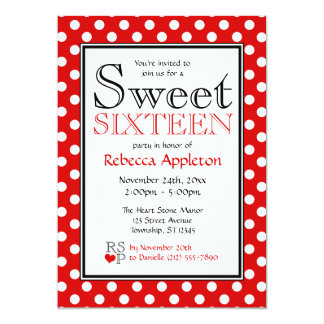 Red And White Polka Dot Invitations Announcements Zazzle