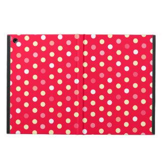 Polka dot red yellow white ipad air powis case