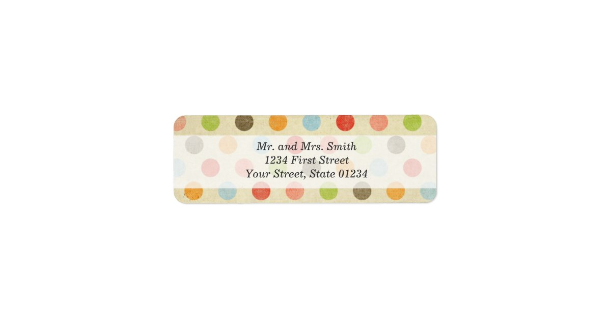 It is an image of Bright Polka Dot Mailing Labels