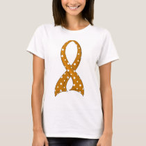 Polka Dot Ribbon Appendix Cancer T-Shirt