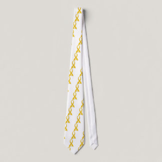 Polka Dot Ribbon Childhood Cancer Tie