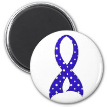 Polka Dot Ribbon Colon Cancer Magnet
