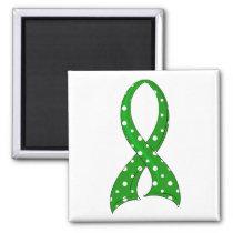 Polka Dot Ribbon Kidney Disease Magnet